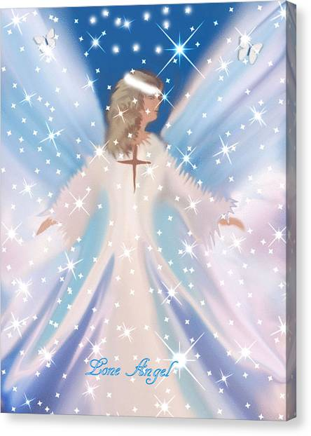 Lone Angel Canvas Print by Sherri's Of Palm Springs