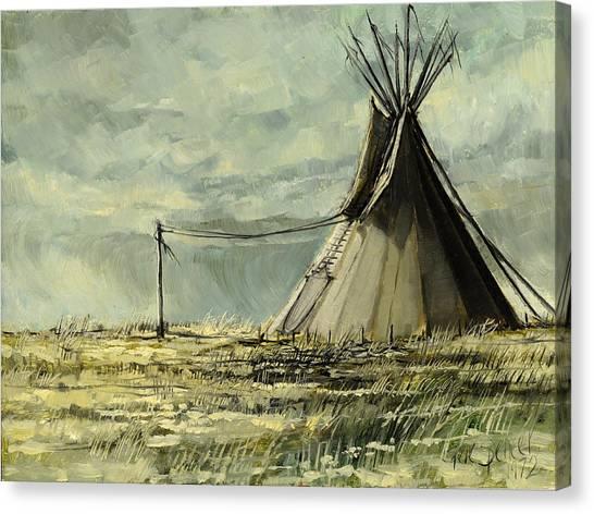 Lone Lodge Canvas Print