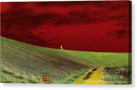 Lone Man And His Best Friend Canvas Print by JCYoung MacroXscape