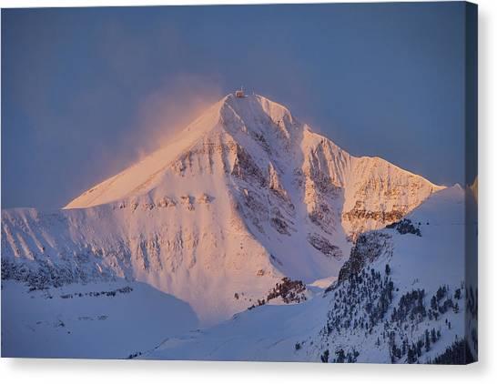 Lone Peak Alpenglow Canvas Print