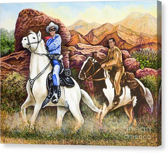 Lone Ranger And Tonto Ride Again Canvas Print