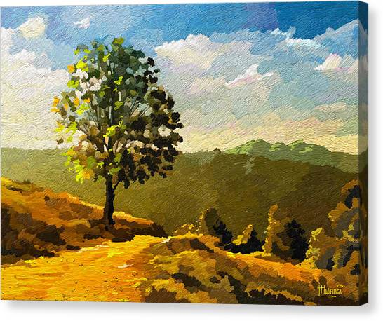 Sunset Horizon Canvas Print - Lone Ranger by Anthony Mwangi