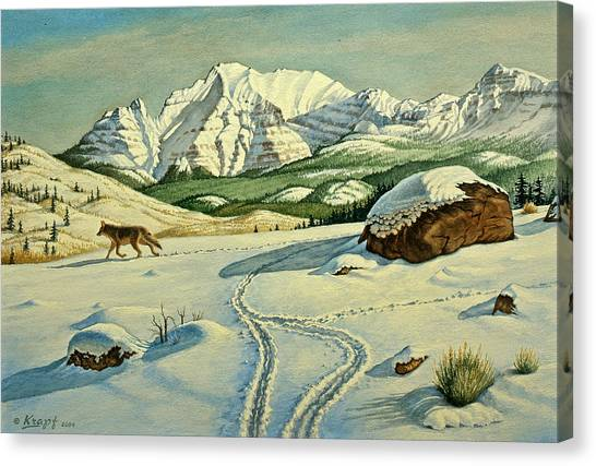 Yellowstone Canvas Print - Lone Tracker by Paul Krapf