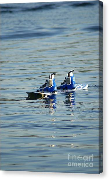 Lone Wakeboard Canvas Print