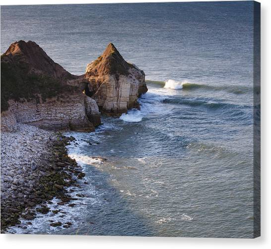 Lone Wave Breaking Canvas Print