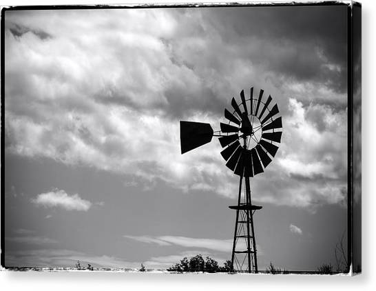Lone Windmill On The Prairie Canvas Print