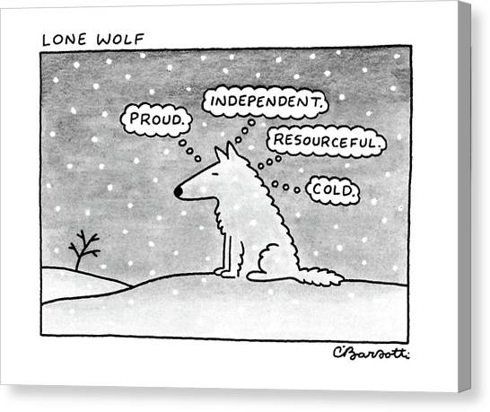 Independent Canvas Print - Lone Wolf: by Charles Barsotti