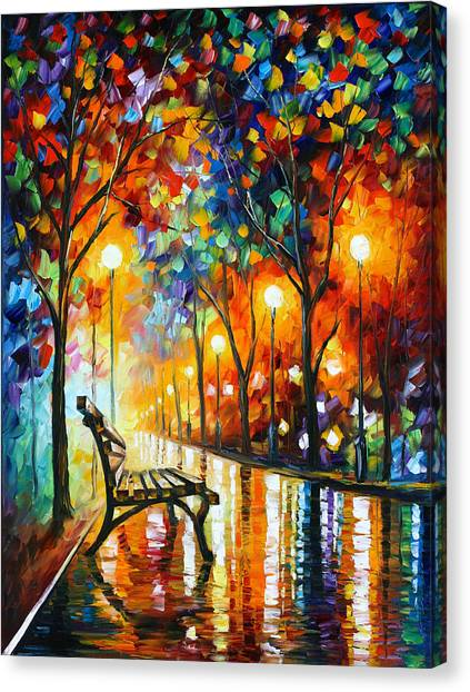 Experimental Canvas Print - Loneliness Of Autumn by Leonid Afremov