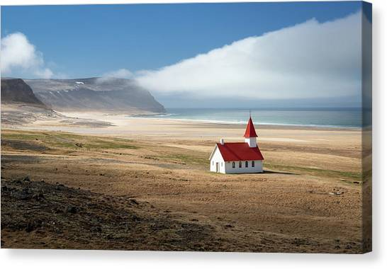 Church Canvas Print - Lonely Church by Kirill Trubitsyn