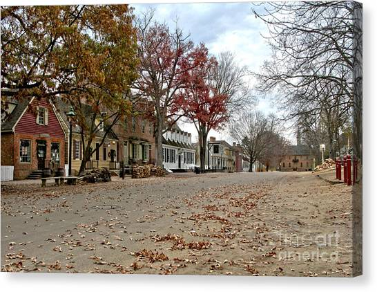 Lonely Colonial Williamsburg Canvas Print