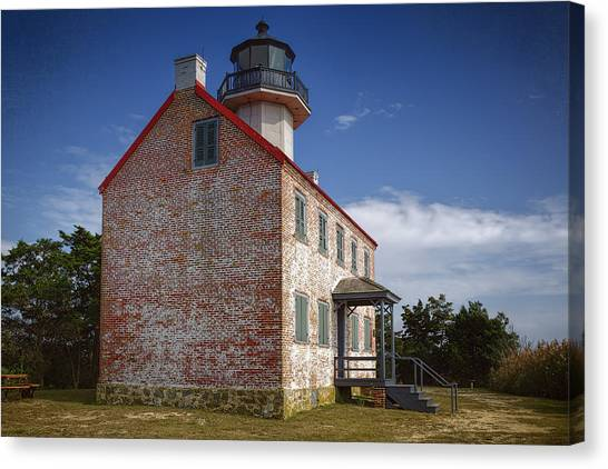 Renovation Canvas Print - Lonely East Point Lighthouse by Joan Carroll