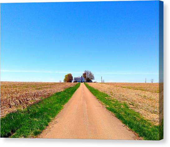 Lonely Farm Canvas Print