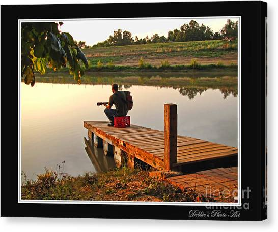 Lonely Guitarist Canvas Print