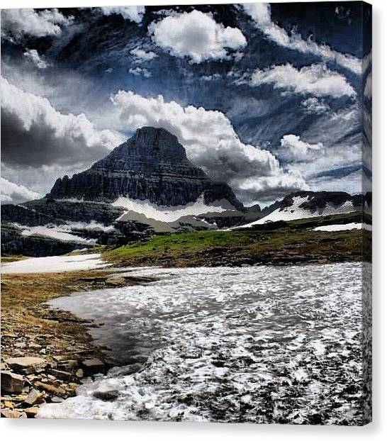 Glacier National Park Canvas Print - Lonely Mountain by David Holtz