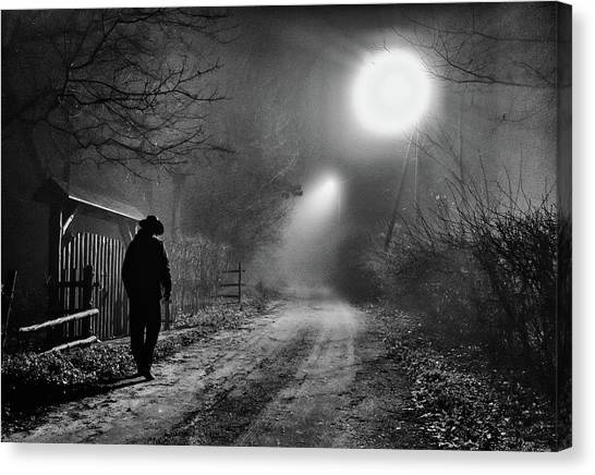 Cowboy Canvas Print - Lonely by Salex