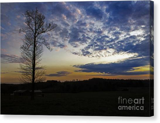 Lonely Sunset Canvas Print