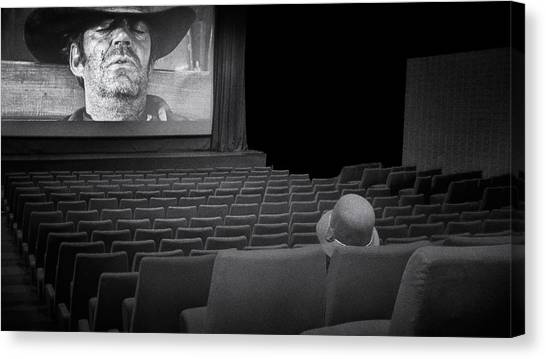 Chair Canvas Print - Lonely...at The Movies... by Marie-anne Stas