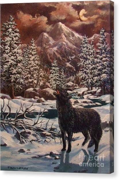 Loner Canvas Print by W  Scott Fenton