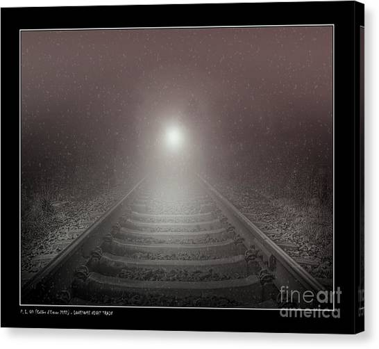 Lonesome Night Train Canvas Print