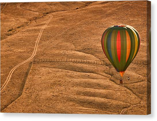 Hot Air Balloon Canvas Print - Lonesome Road by Keith Berr