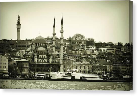 Suleymaniye Canvas Print - Long Ago And Far Away by Joan Carroll