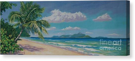 Fiji Canvas Print - Long Bay Beach  9x23 by John Clark