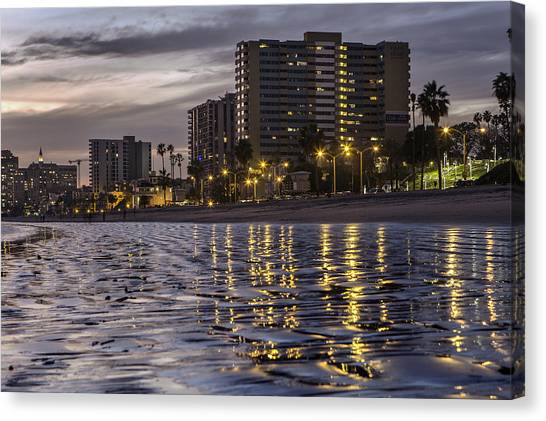 Long Beach Evening Canvas Print
