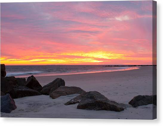 Long Beach Sunset Canvas Print