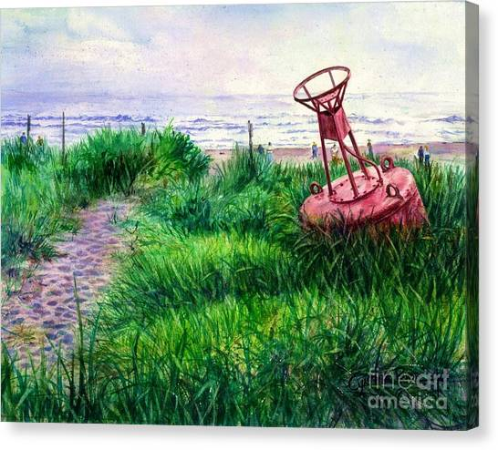 Long Beached Buoy Canvas Print