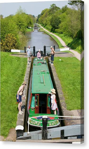 Cheshire Canvas Print - Long Boat by Ashley Cooper
