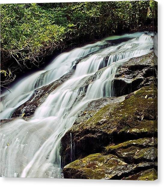 Appalachian Mountains Canvas Print - Long Creek Falls - Found On The Three by Cheryl Marie