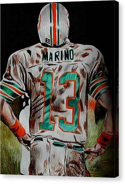 Dan Marino Canvas Print - Long Day by Jeremy Moore