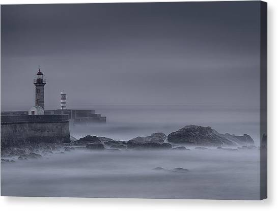 Long Exposure Foz Porto Canvas Print