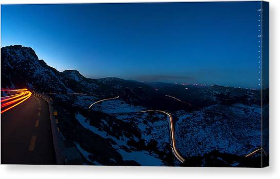Long Exposure In Serra Da Estrela Portugal Canvas Print