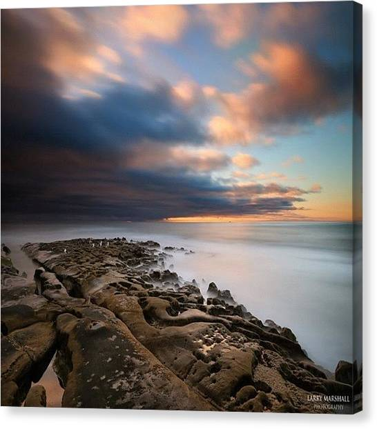 Canvas Print - Long Exposure Sunset Of An Incoming by Larry Marshall