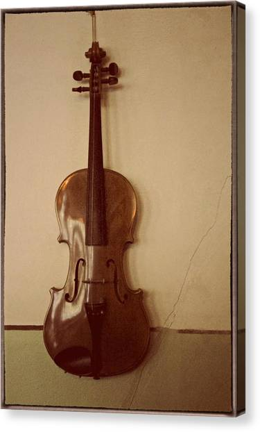 Violins Canvas Print - Long Gone Saturday Nights by Odd Jeppesen