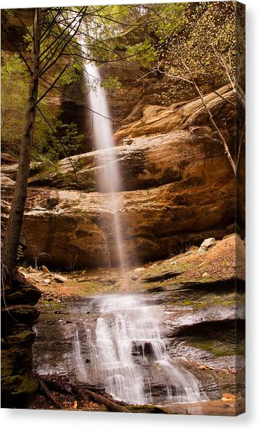 Long Hollow Waterfall Canvas Print