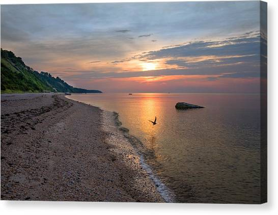 Long Island Beach And Sound Canvas Print
