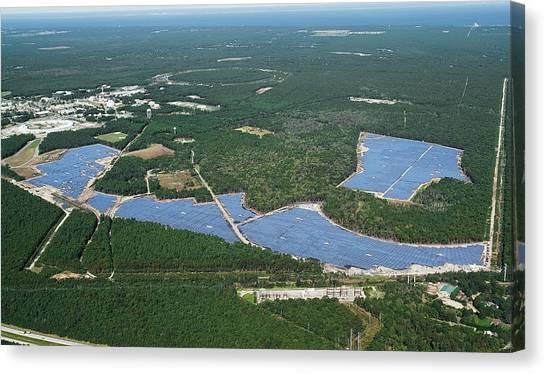 Solar Farms Canvas Print - Long Island Solar Farm by Brookhaven National Laboratory