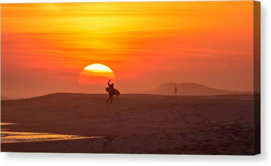 Long Island Surfer Canvas Print