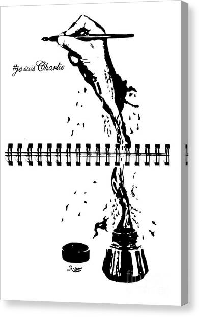 Liberte Canvas Print - Long Live Freedom Of Speech by The Art Of Rido