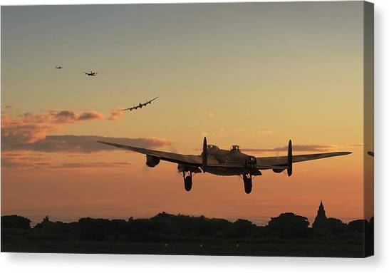 Airplanes Canvas Print - Long Night Ahead by Pat Speirs