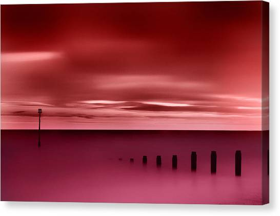 Long Red Sunset Canvas Print