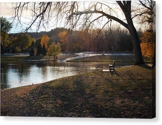 Long Shadows At Canyon Lake Canvas Print by Dakota Light Photography By Dakota