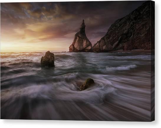 Mountain Cliffs Canvas Print - Long Ursa. by Juan Pablo De