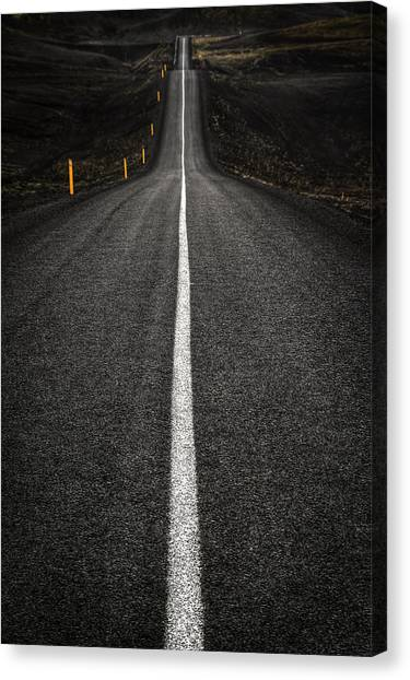 Ashes Canvas Print - Long Way To Nowhere by Evelina Kremsdorf