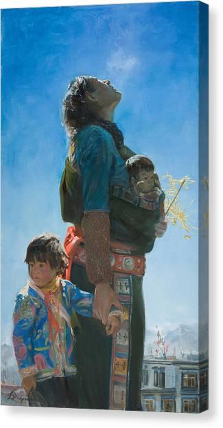 Pilgrims Canvas Print - Long Way by Victoria Kharchenko