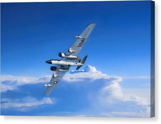 Canberra Canvas Print - Long Wing Weather Recon by Peter Chilelli