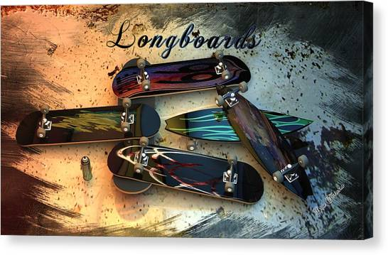Longboards Canvas Print