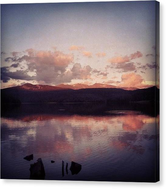 Lake Sunrises Canvas Print - Longdraw Reservoir Colorado by Brittany  Springer